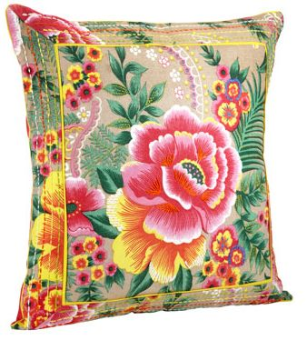 floral cushion by monsoon